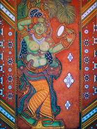 Pana Yakshi - traditional Kerala mural